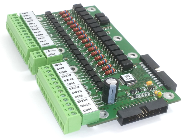 16채널 접점 입력모듈(DIE)