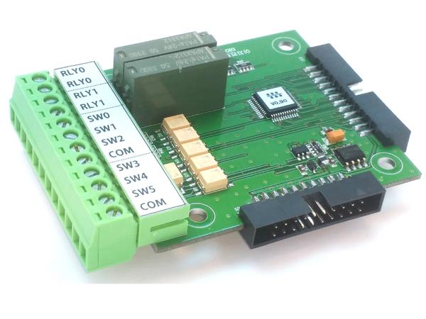 6채널 접점입력 및 2채널 릴레이 출력모듈(DIO)