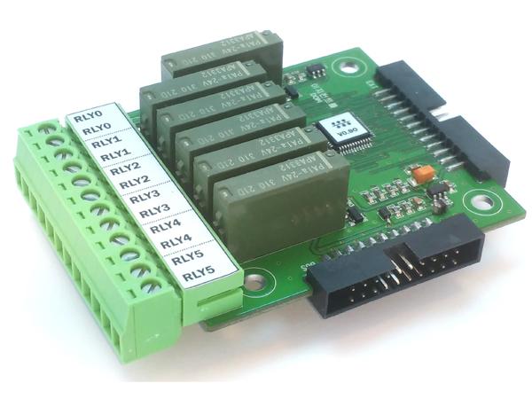 6채널 릴레이 출력모듈(DOM)